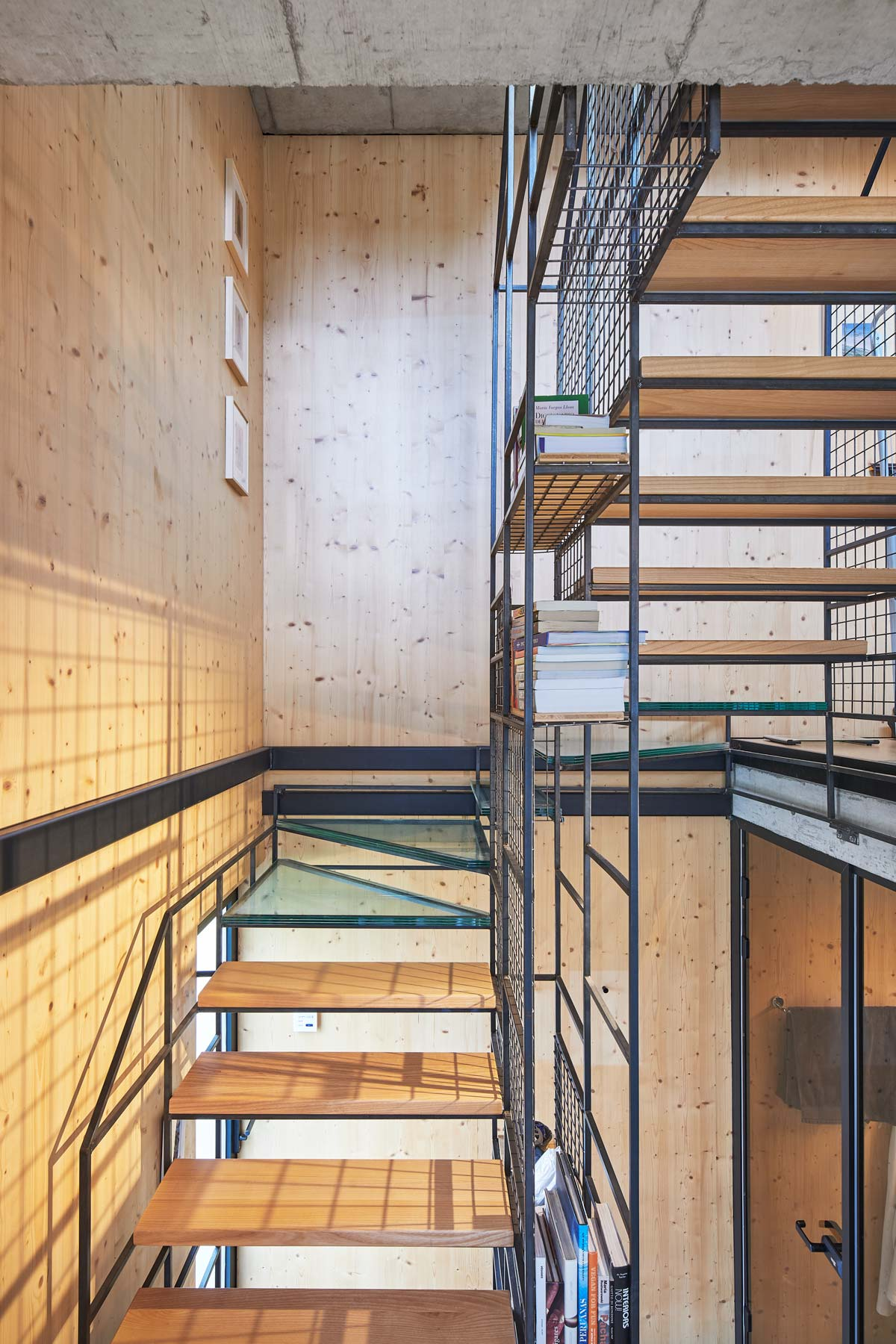 Treppenhaus aus Holz